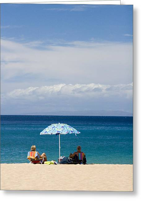 Idyllic Greeting Cards - Kaanapali Beach in Maui Greeting Card by David Smith