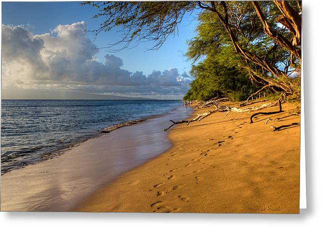 Lahaina Greeting Cards - Kaanapali Beach Stroll Greeting Card by Heidi Smith