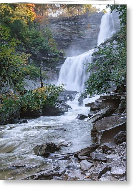 Autumn Morning Greeting Cards - Kaaterskill Falls Greeting Card by Bill  Wakeley