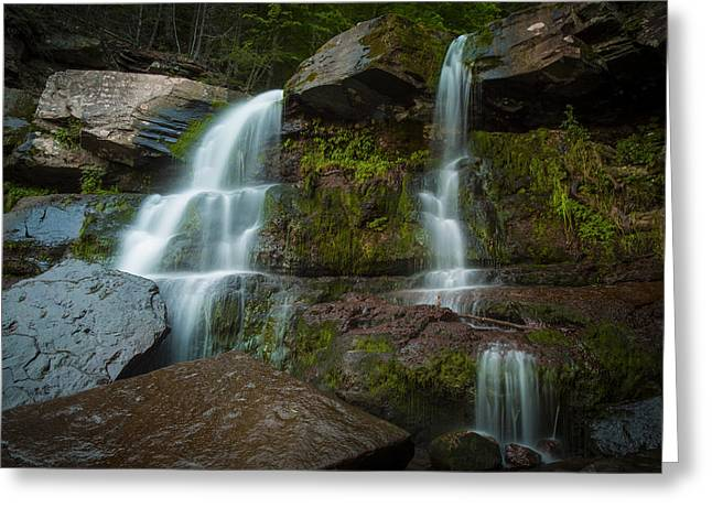 Kaaterskill Falls Greeting Card by Edgars Erglis