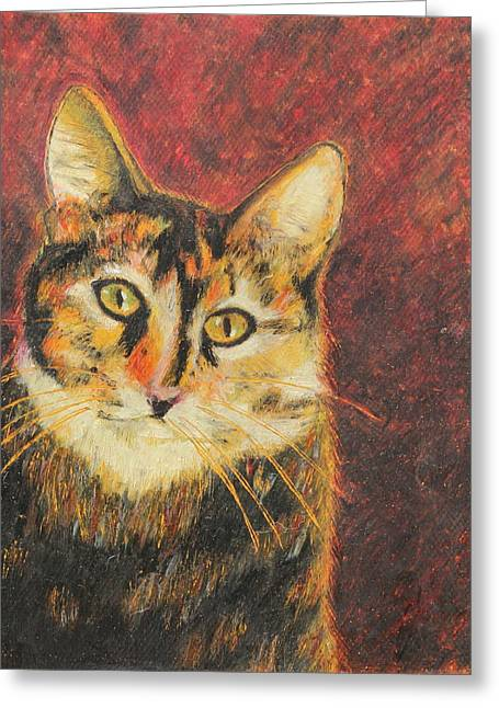 Cute Kitten Pastels Greeting Cards - Kaco Greeting Card by Jeanne Fischer