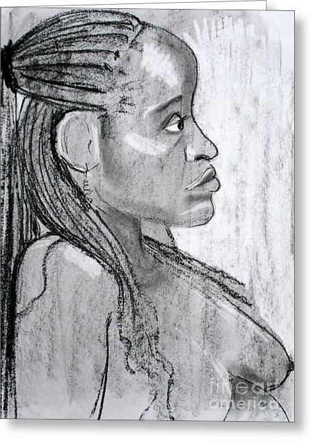 Figure Drawing Greeting Cards - Kaddie 2 Greeting Card by Joanne Claxton