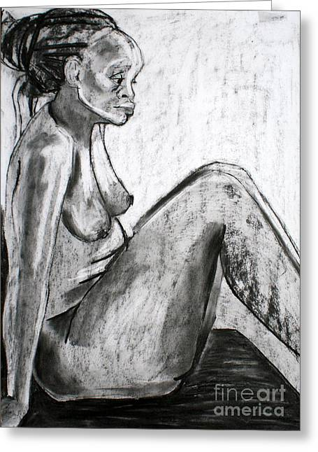 Figure Drawing Greeting Cards - Kaddie 5 Greeting Card by Joanne Claxton