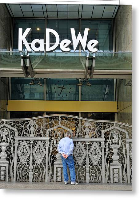 Westen Greeting Cards - KaDeWe Entrance Berlin Germany Greeting Card by Matthias Hauser