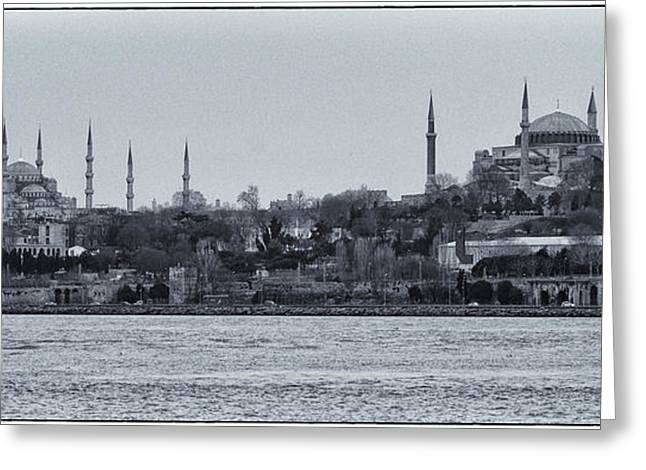 Hagia Sophia Greeting Cards - Kadikoy Cruise Greeting Card by Joan Carroll