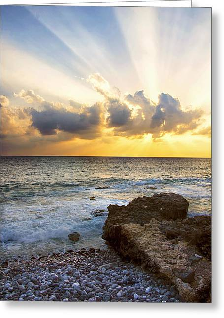 Recently Sold -  - North Sea Greeting Cards - Kaena Point State Park Sunset 2 - Oahu Hawaii Greeting Card by Brian Harig