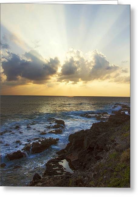 Amazing Sunset Greeting Cards - Kaena Point State Park Sunset 3 - Oahu Hawaii Greeting Card by Brian Harig