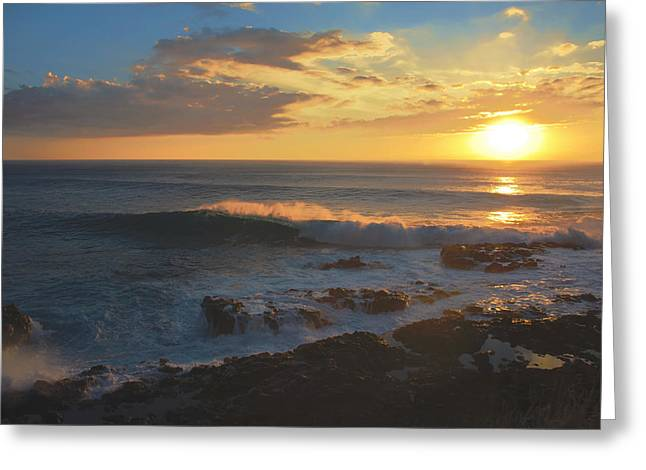 Brianharig Greeting Cards - Kaena Point State Park Sunset Greeting Card by Brian Harig