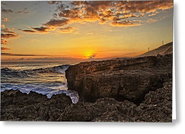 Nature Greeting Cards - Kaena Point Sunset Greeting Card by Marcia Colelli