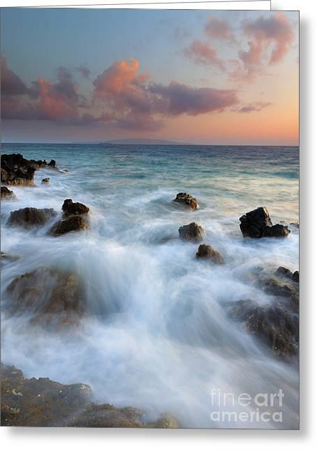 Hawaii Islands Greeting Cards - Kahoolawe Sunset Greeting Card by Mike  Dawson