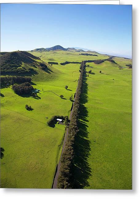 Kahua Ranch Land, Kohala Mountain Road Greeting Card by Douglas Peebles