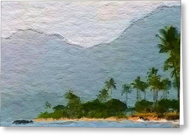 Seascape Art Greeting Cards - Kahuku beach side Greeting Card by Anthony Fishburne