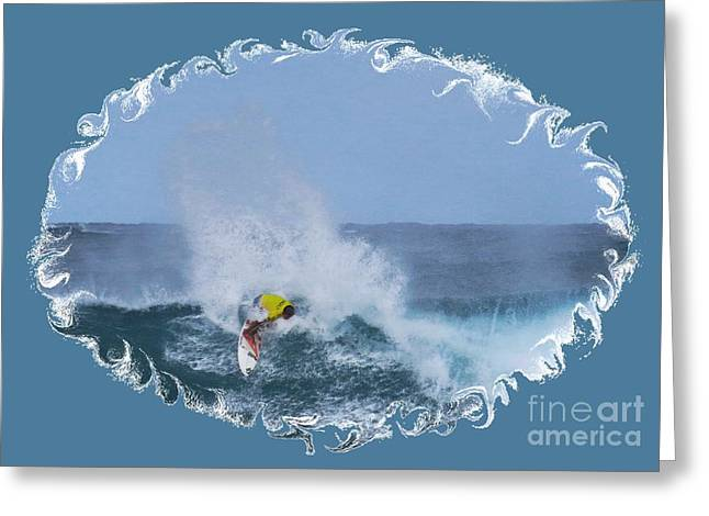 Surfing Photos Greeting Cards - Kai Barger - Pro Surfer Greeting Card by Scott Cameron