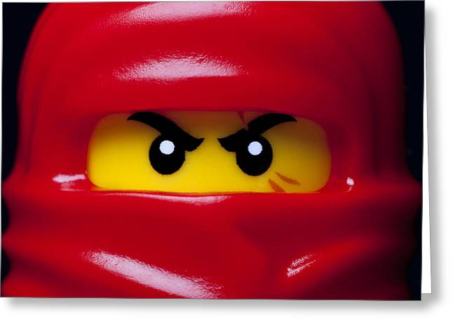 Character Photographs Greeting Cards - Kai Red Ninjago Greeting Card by Samuel Whitton