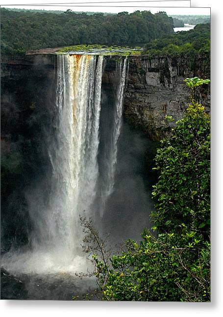 Stefan Carpenter Greeting Cards - Kaieteur Falls Afar Greeting Card by Stefan Carpenter