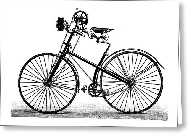 European Artwork Greeting Cards - Kaiserrad Bicycle, 1889 Greeting Card by Bildagentur-online