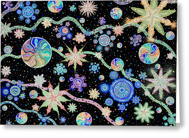 Blacklight Greeting Cards - Kalafu - Inversion Greeting Card by Dave Migliore
