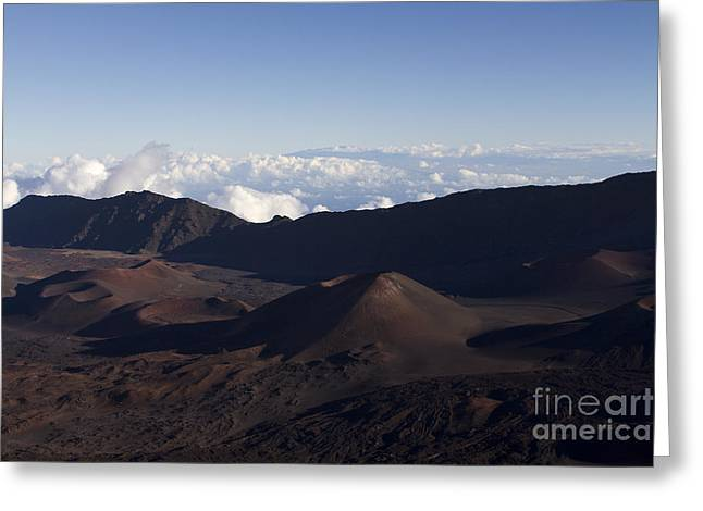 Energy Vortex Greeting Cards - Kalahaku Overlook Haleakala Maui Hawaii Greeting Card by Sharon Mau