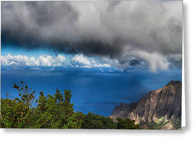Outlook Greeting Cards - Kalalau Outlook  Greeting Card by Douglas Barnard