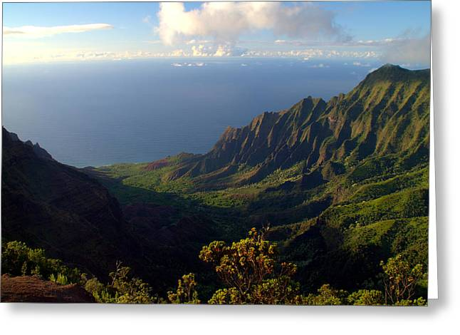 Ocean Landscape Greeting Cards - Kalalau Valley 3 Greeting Card by Brian Harig