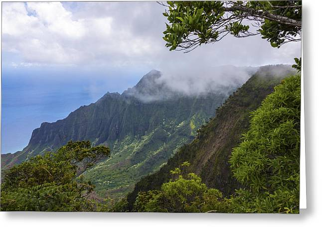 Jurassic Park Greeting Cards - Kalalau Valley 5 - Kauai Hawaii Greeting Card by Brian Harig