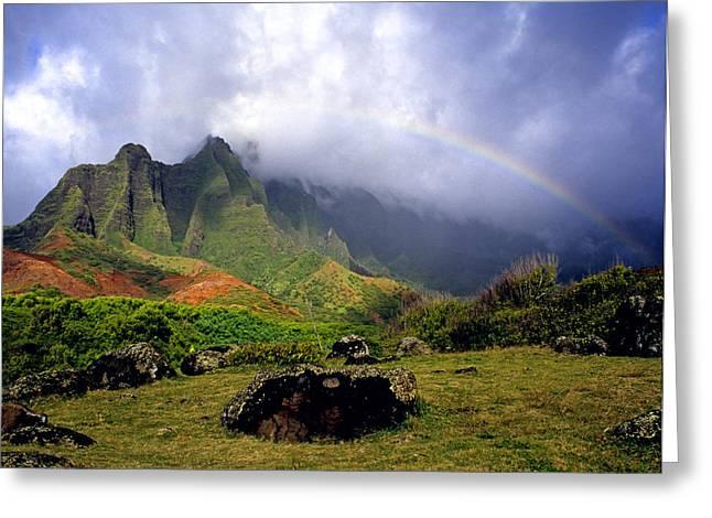 Skystudiohawaii Greeting Cards - Kalalau Valley Kauai Greeting Card by Kevin Smith