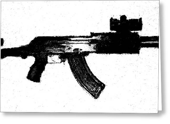 Ak47 Greeting Cards - Kalashnikov Greeting Card by Michael Fascitelli
