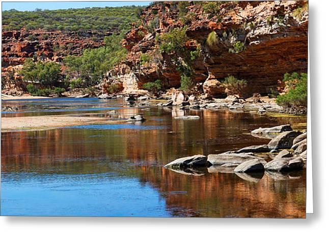 Niel Morley Greeting Cards - Kalbarri River WA Greeting Card by Niel Morley