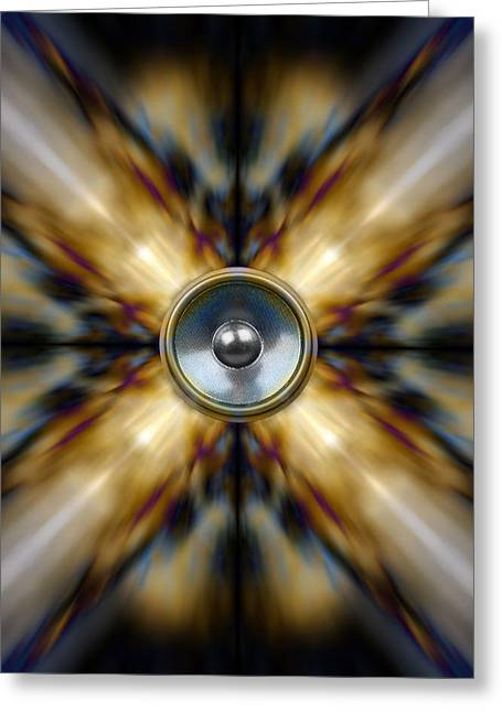 Noise . Sounds Digital Greeting Cards - Kaleido 2 Greeting Card by Steve Ball