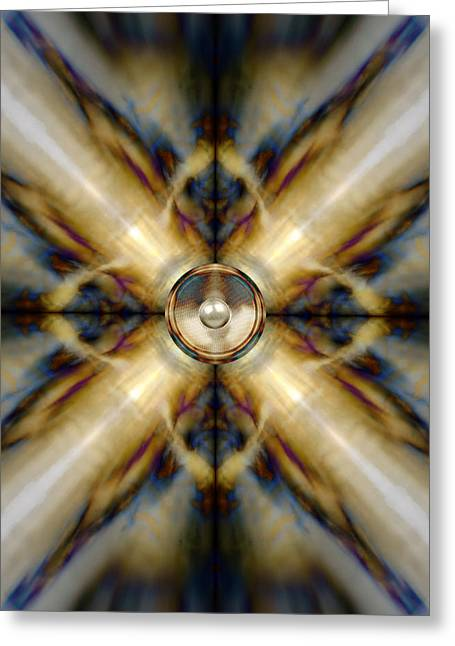 Noise . Sounds Digital Greeting Cards - Kaleido 3 Greeting Card by Steve Ball