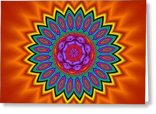Breezy Digital Greeting Cards - Kaleidoscope 1 Bright and Breezy Greeting Card by Faye Giblin