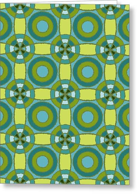 Lisa Noneman Digital Art Greeting Cards - Kaleidoscope 3 Greeting Card by Lisa Noneman