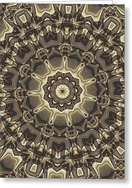 Tan Lines Greeting Cards - Kaleidoscope 66 Greeting Card by Ron Bissett