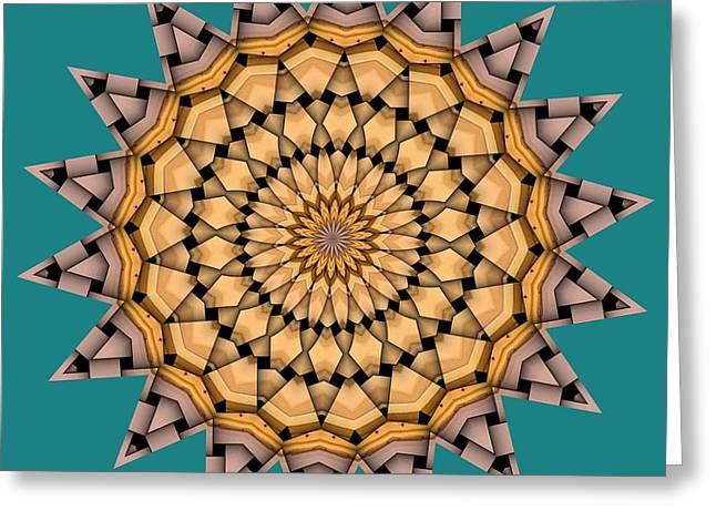 Kaleidoscope Greeting Cards - Kaleidoscope 7 Greeting Card by Ron Bissett
