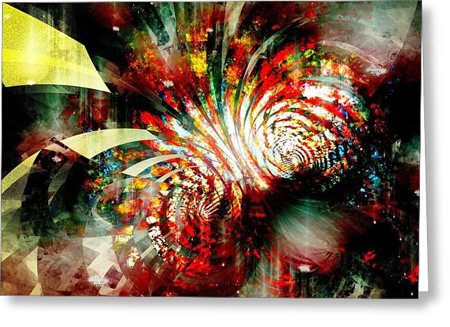 Decor Greeting Cards - Kaleidoscope Greeting Card by Anastasiya Malakhova