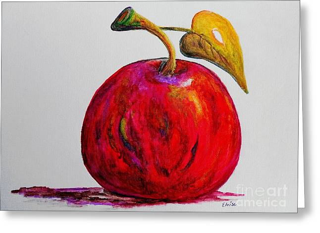 Funky Greeting Cards - Kaleidoscope APPLE -- or -- Apple for the Teacher  Greeting Card by Eloise Schneider