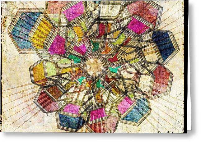 Ink Drawing Greeting Cards - Kaleidoscope Greeting Card by April Gann
