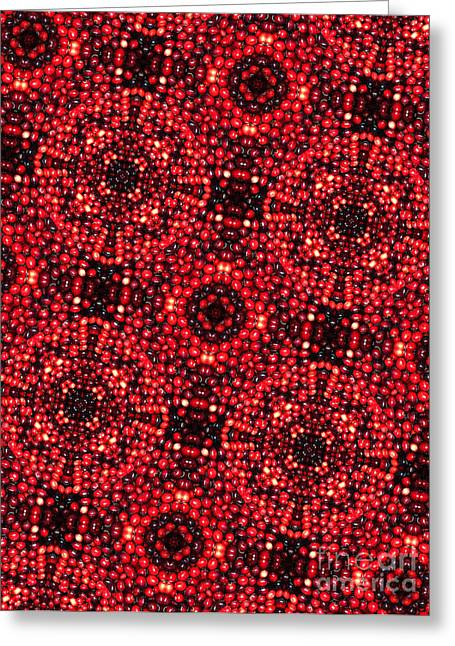 Cranberries Greeting Cards - Kaleidoscope Cranberries Greeting Card by Amy Cicconi