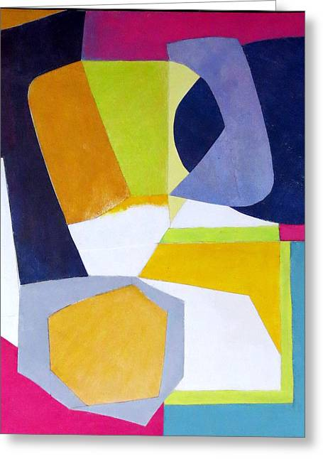 Diane Fine Greeting Cards - Abstract Angles VI Greeting Card by Diane Fine