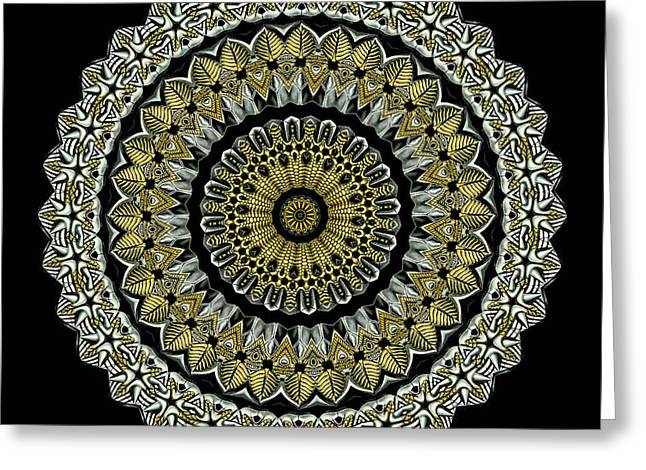 Brass Greeting Cards - Kaleidoscope Ernst Haeckl Sea Life Series Steampunk Feel Greeting Card by Amy Cicconi