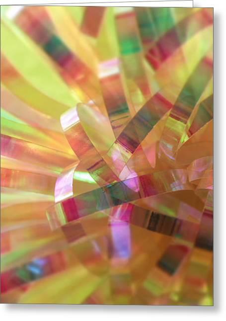 Kaleidoscope Greeting Card by Jean OKeeffe Macro Abundance Art