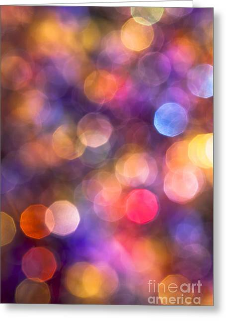 Vivid Colour Greeting Cards - Kaleidoscope Greeting Card by Jan Bickerton