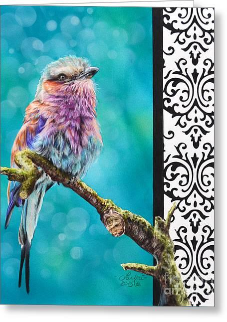 Kaleidoscope Greeting Card by Lachri