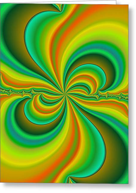 Computer Graphics Greeting Cards - Kaleidoscope Of Colour Greeting Card by Paul Sale Vern Hoffman