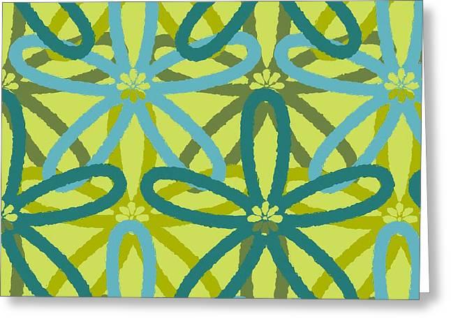Lisa Noneman Digital Art Greeting Cards - Kaleidoscope of Flowers Greeting Card by Lisa Noneman