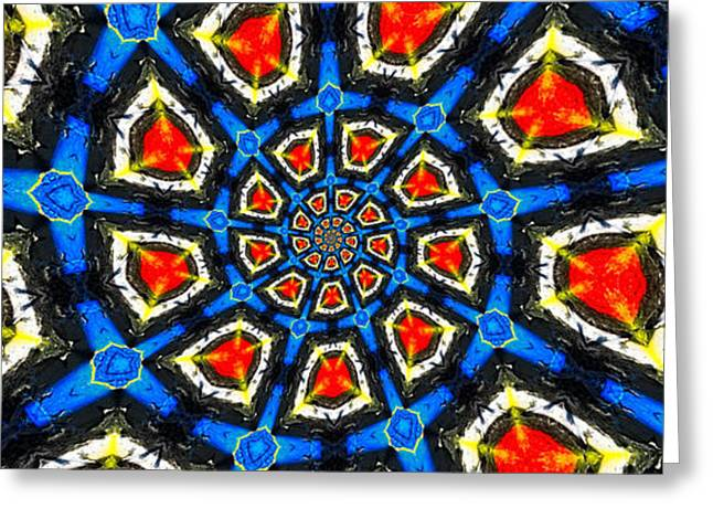 Kaleidoscope of Primary Colors Greeting Card by Amy Cicconi