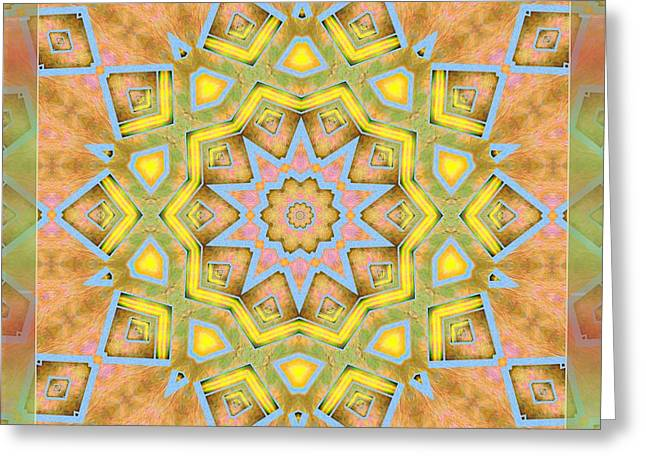 Kaleidoscope - Silk And Satin  Greeting Card by Liane Wright