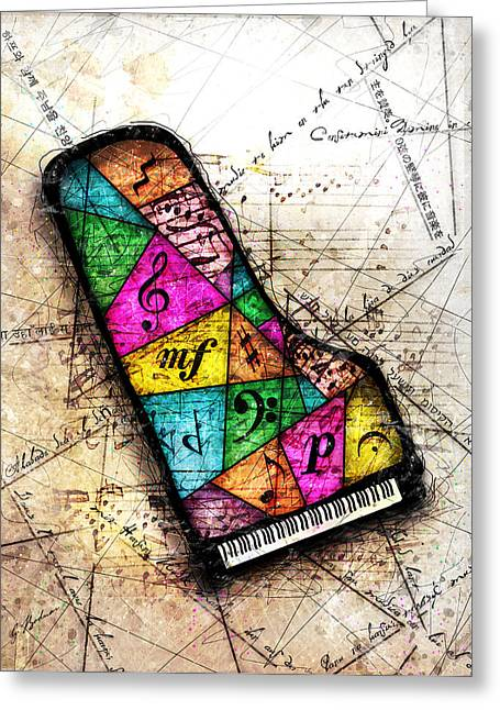 Bizarre Digital Art Greeting Cards - Kaleidoscope Sonata Greeting Card by Gary Bodnar