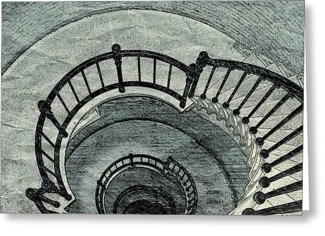 Kaleidoscope Staircase Greeting Card by Pamela Blayney