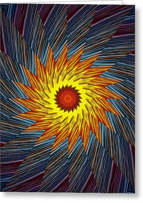 Weels Greeting Cards - Kaleidoscope - swirl Greeting Card by Lilia D